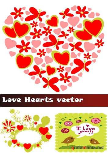 Love Hearts vector
