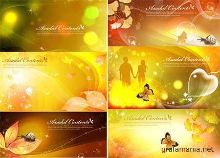 Romantic Vector Banners 3