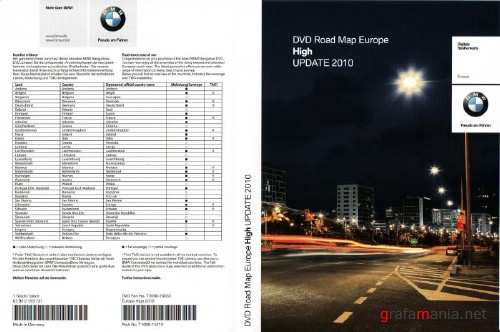 BMW DVD Road Map Europe High 2010