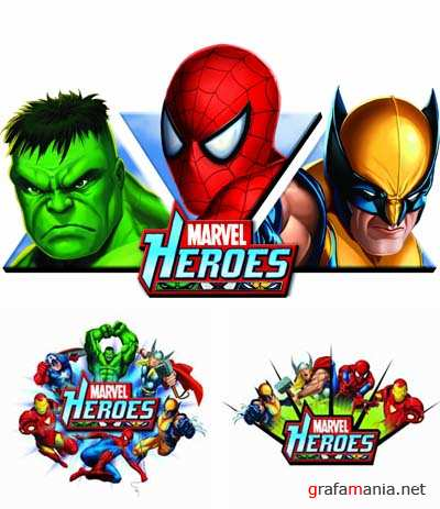 Marvel Heroes - PSD Templates