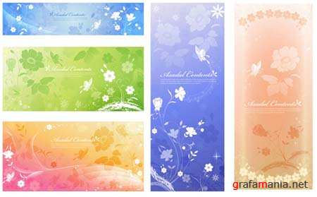 Romantic Vector Banners 4