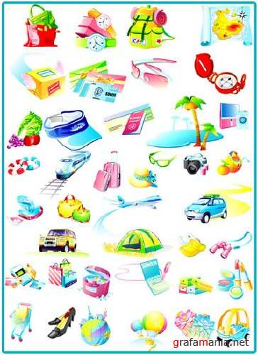 Vector Shopping And Travel