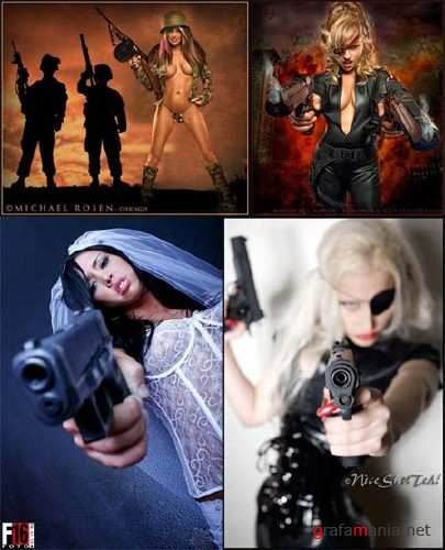 Armed Girls - Creative Photos Mix