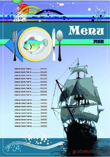 Menu fish Vector