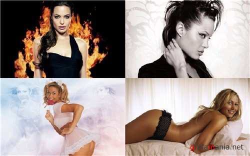 Wallpapers Stacy Keibler and Angelina Jolie