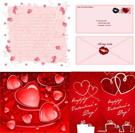 Hearts Vector Material 4