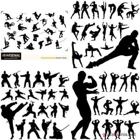 Sports Vector Silhouettes