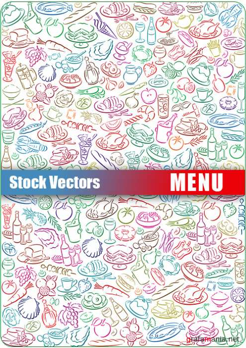 Stock Vector - Menu