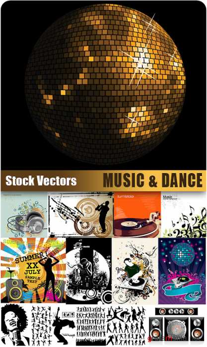 Stock Vectors - Music & Dance