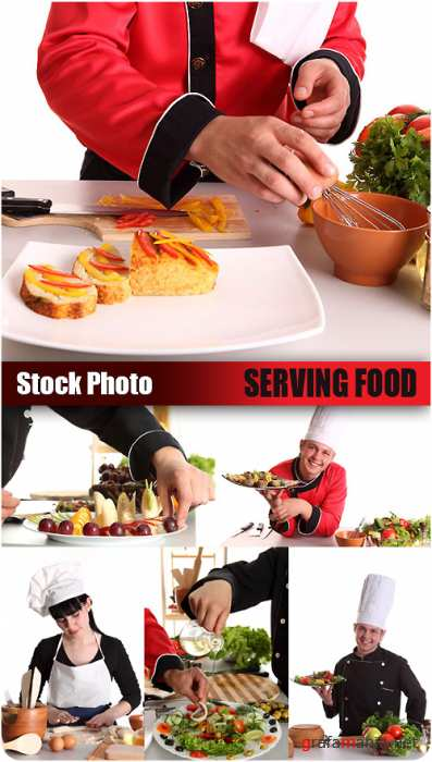Stock Photo - Serving Food