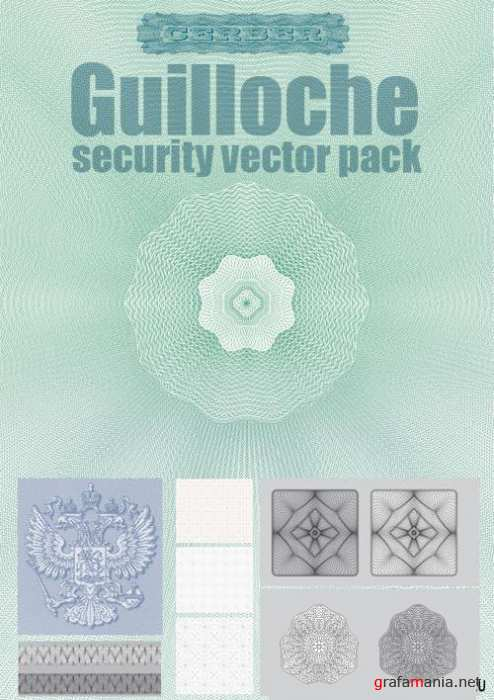 Guilloche - security vector pack