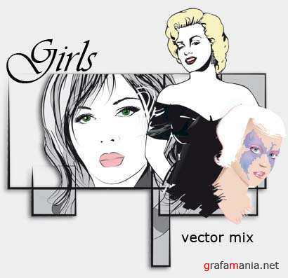Girls Vector Mix for Corel Draw