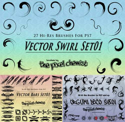 Vector Swirl Bars and Deco Brushes