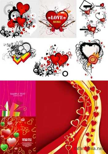 Hearts Vector Material 6