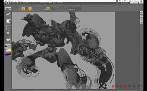 Massive Black - Andrew Jones ZBrush PainterX Training Monster Boss