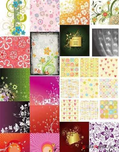 Floral Vector Background Mix