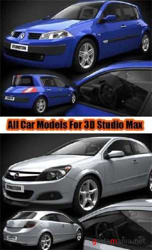 Car models pack for 3D Max