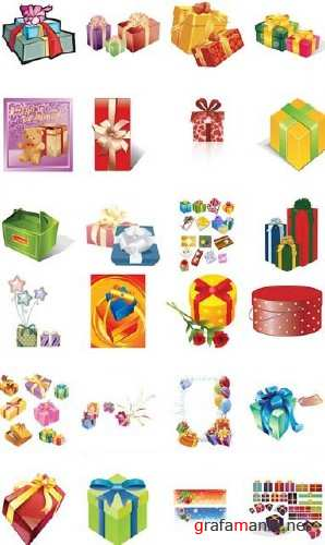 Gifts Vector Boxes
