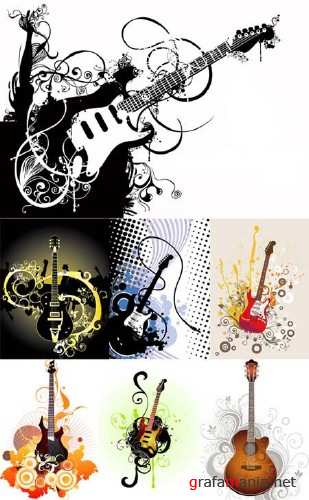 Guitars Vector Collection