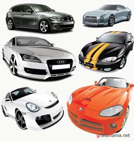 collection of vector cars