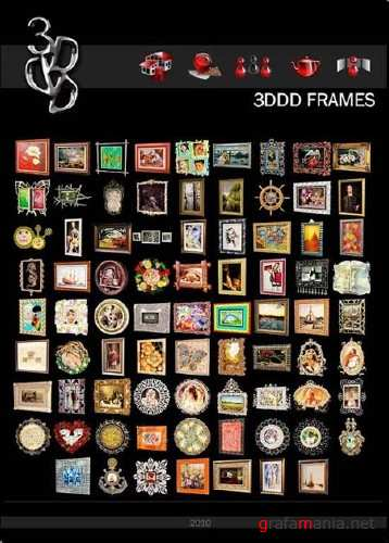 Frames and Paintings 3D Collection (by 3DDD)
