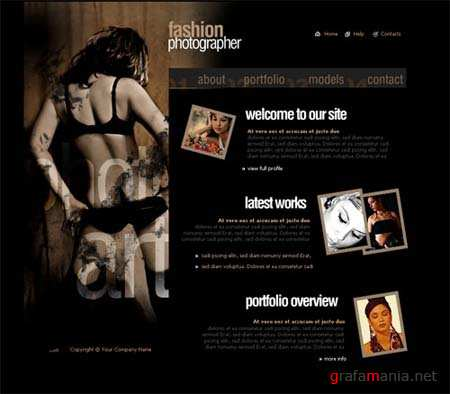 Fashion Photographer - Flash Site Template