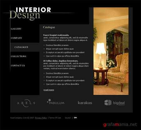 Interior Design - Flash Site Template