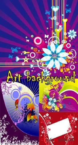 Art backgrounds vectors
