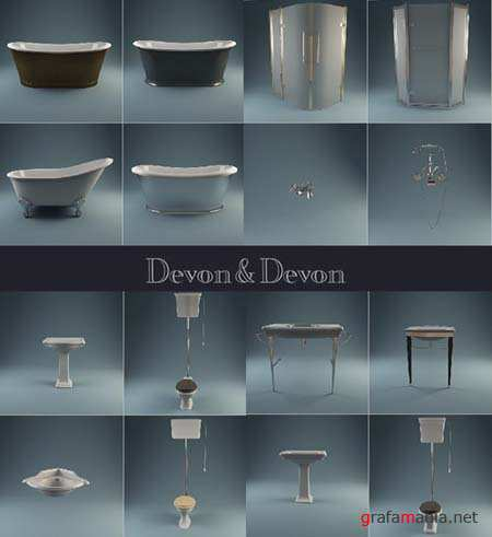 3D Models: Bathroom Equipment by Devon and Devon