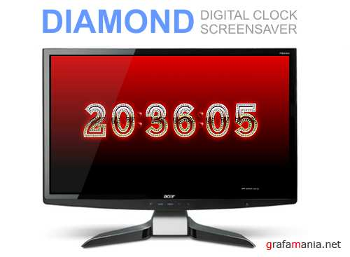 DIAMOND  DIGITAL CLOCK SCREENSAVER