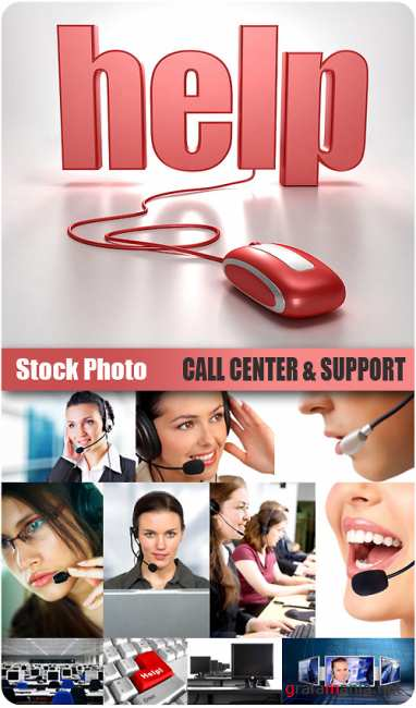 Stock Photo - Call Center & Support