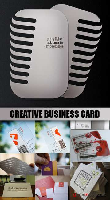 Collection of creative business cards