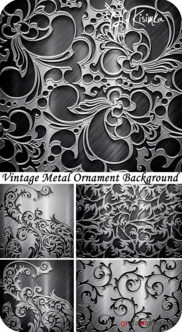 Stock Photo: Vintage metal ornament background