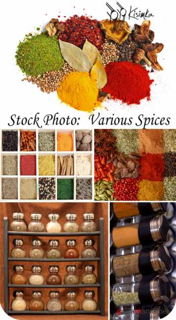 Stock Photo:  Various spices