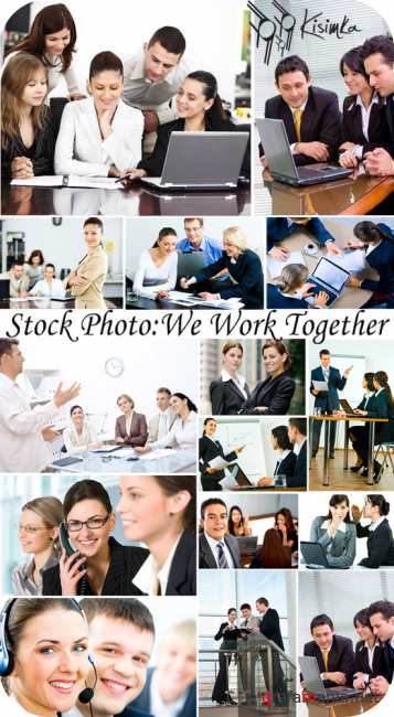 Stock Photo:  We work together