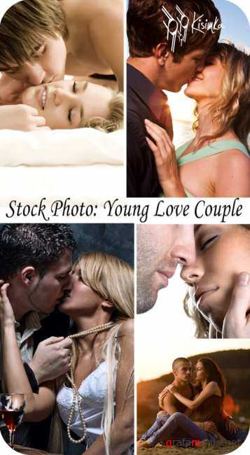 Stock Photo:  Young love couple