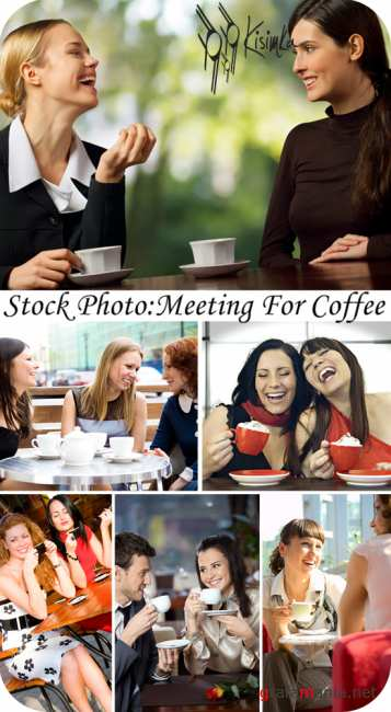 Stock Photo:  Meeting for coffee