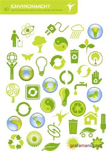 40 Green Peace Icons