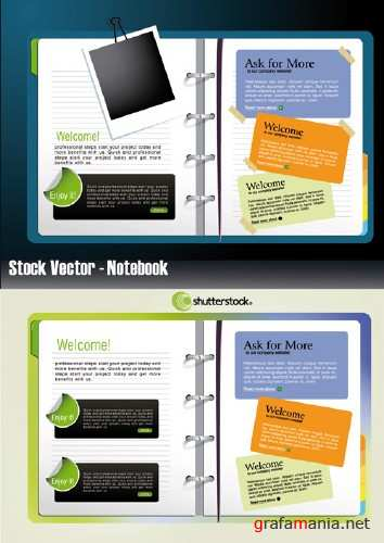 Stock Vector - Notebook