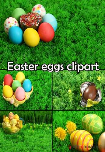 Easter eggs clipart 2