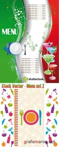 Stock Vector - Menu set 2