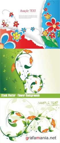 Stock Vector - Flower Backgrounds