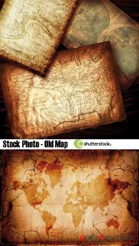 Stock Photo - Old Map