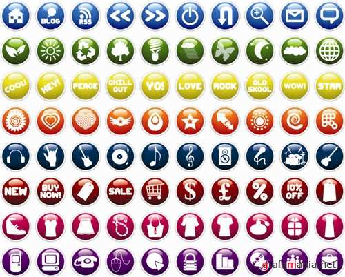 ����� ��������� ������ - Icons Set Vector