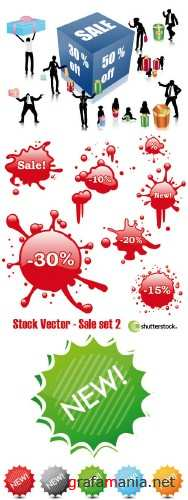 Stock Vector - Sale set 2