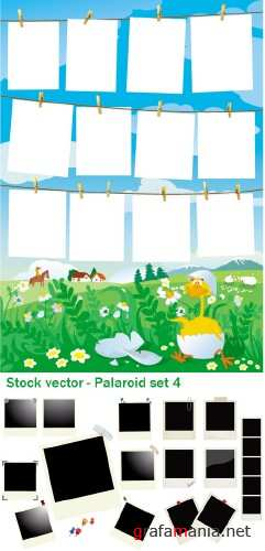 Stock Vector - Paloroid set 4