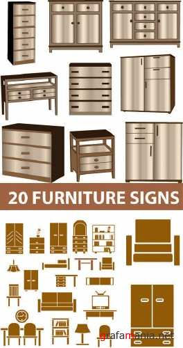 Stock Vector - Furniture Signs