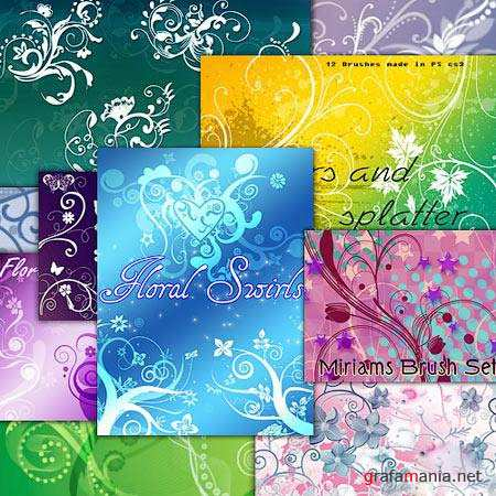 Floral Swirls Photoshop Brushes