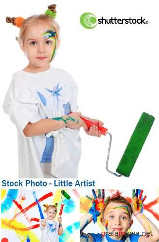 Stock Photo - Little Artist