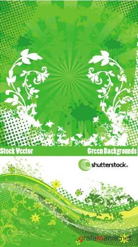 Stock Vector - green Backgrounds
